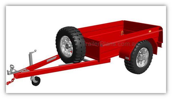 Box Trailer Plans - Build your own Box Trailer  www.trailerplans.com.au