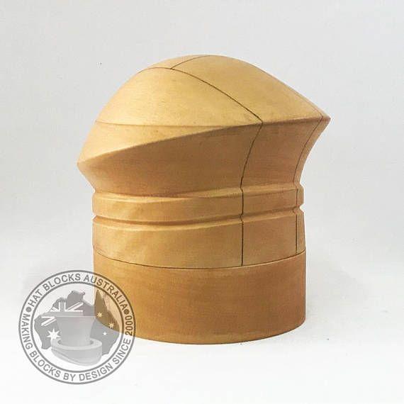 Natalie Hand Made Vintage Reproduction Puzzle Hat Block By Hat Blocks Australia Faithful Reproduction Of A 1940 S Vintage Hats Vintage Hat Blocks Millinery