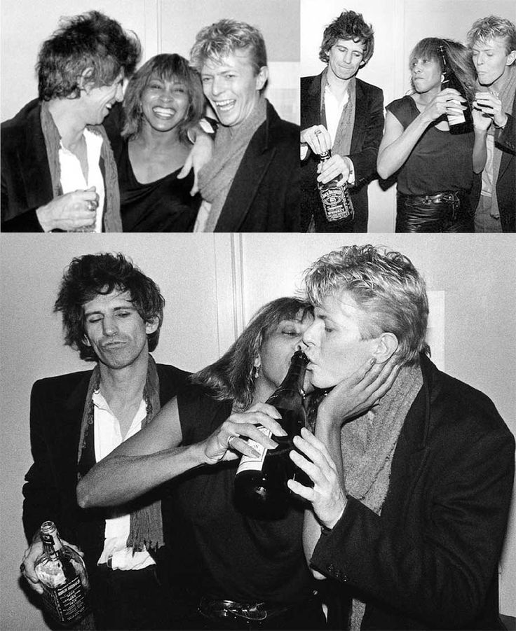 Rare and beautiful celebrity photos | Keith Richards, Tina Turner and David Bowie