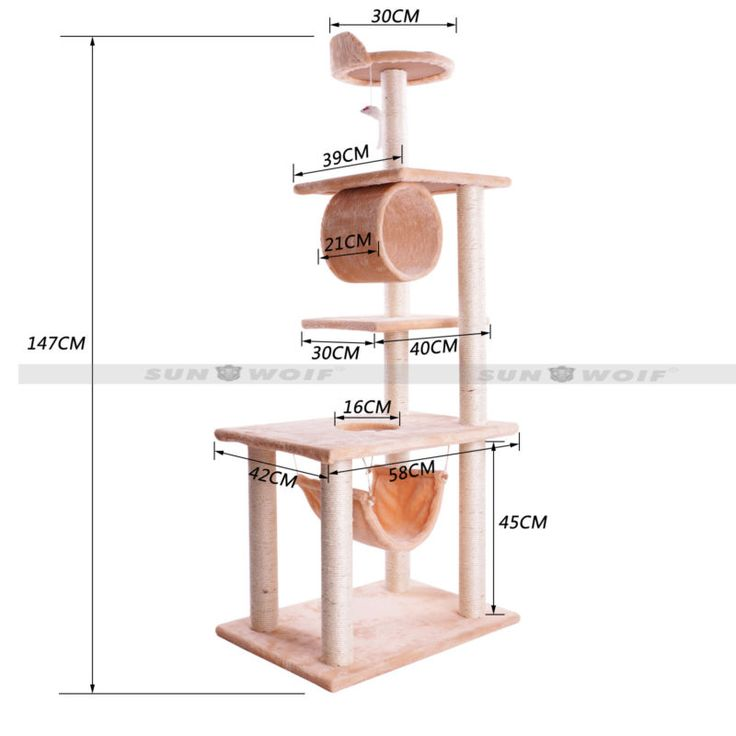 Pet Cat Tree Condo Furniture Scratching Post Scratcher Gym House Bed Play Toys