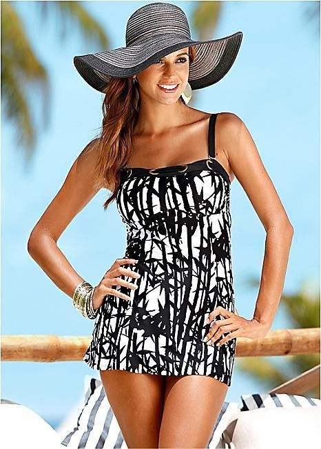 bf86644a1e3b7 Bon Prix Long Tankini Blk/White Size UK 14 rrp 37.99 DH078 FF 25 #fashion # clothing #shoes #accessories #womensclothing #swimwear (ebay link)