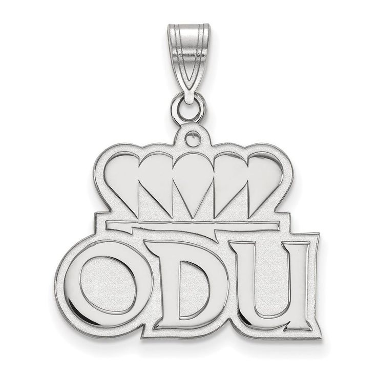 Sterling Silver LogoArt Old Dominion University Large Pendant