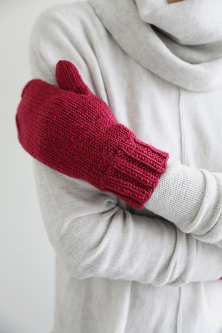 We have a simple and handsome mitten pattern in a quick-knitting aran weight yarn for you today! These lovely mitts are knit in the round in one piece. Stitches for thumb are placed on hold and the…