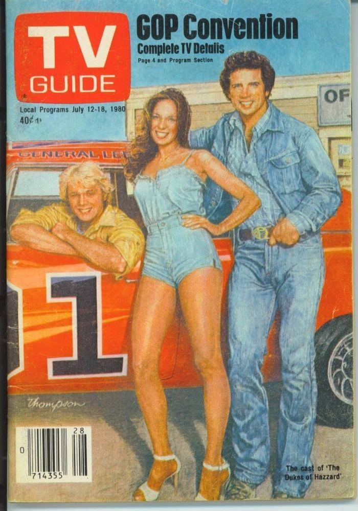 CHICAGO TV GUIDE 7-12-1980 DUKES OF HAZZARD~TOM WOPAT~RANDI OAKES~LATE NIGHT TV