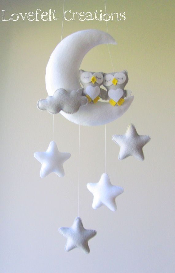 READY TO SHIP Baby mobile Owl mobile Crib by lovefeltmobiles