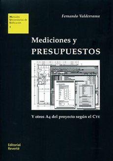 Mediciones Y Presupuestos Para Arquitectos E Ingenieros De Edificacio