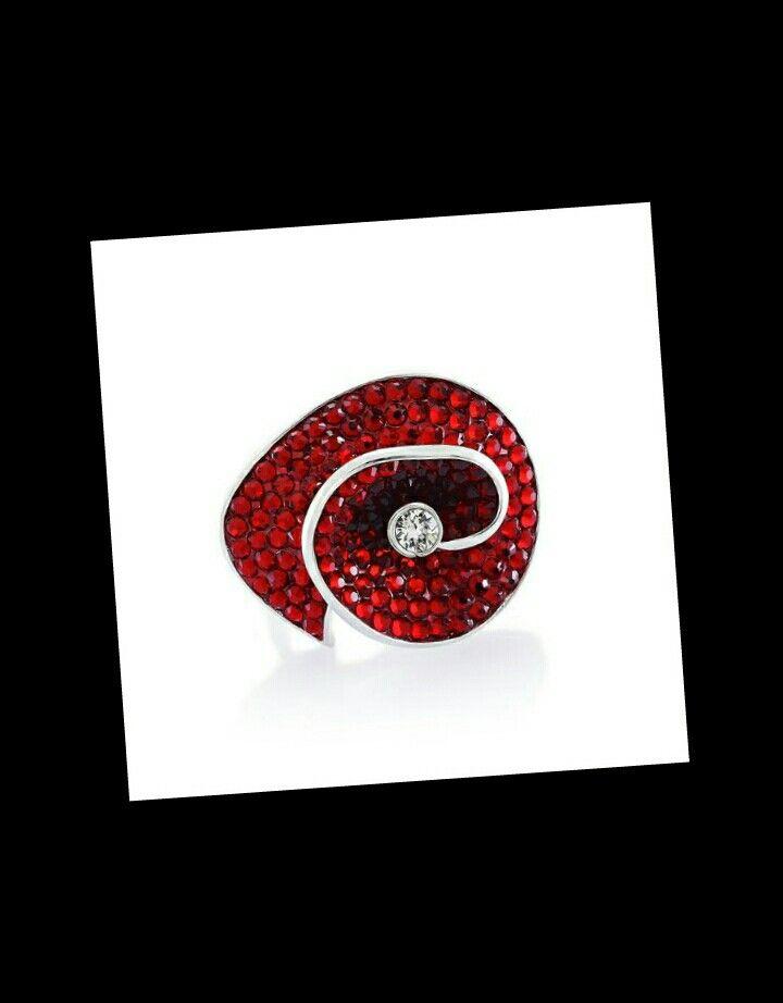 Helix Siam Yüzük miahera.com da #gümüş #altınkaplama #yüzük #swarovski #kristal #tasarımtakı #jewellery #red