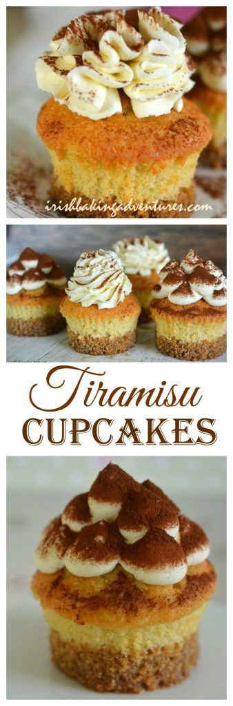 I've given the classic Italian Dessert a cupcake makeover! Check out this pretty ,boozy & very delicious Tiramisu Cupcake. The perfect pick-me-up with a luscious mascarpone whipped cream frosting.