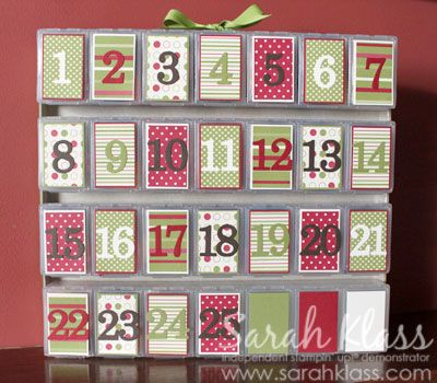 I think is the one I will make for my daughters to keep ... advent calendar