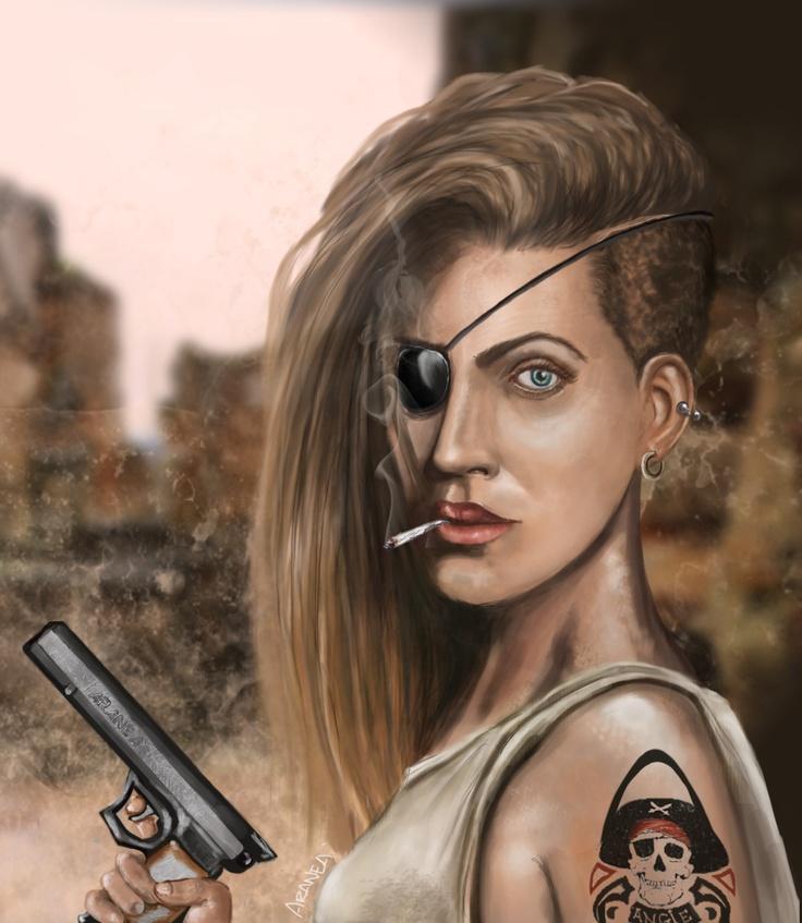 Lady Blackpatch (inspirado en una ilustración de Dan Luvisi