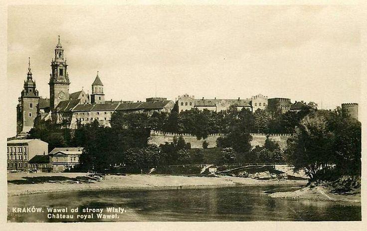 Kraków - ciekawostki, tajemnice, stare zdjęcia ·   Widok na Wawel z obecnego Mostu Dębnickiego w 1905 roku