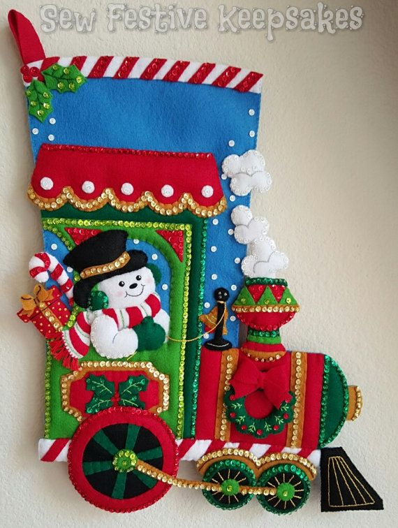 Candy Express Christmas Stocking