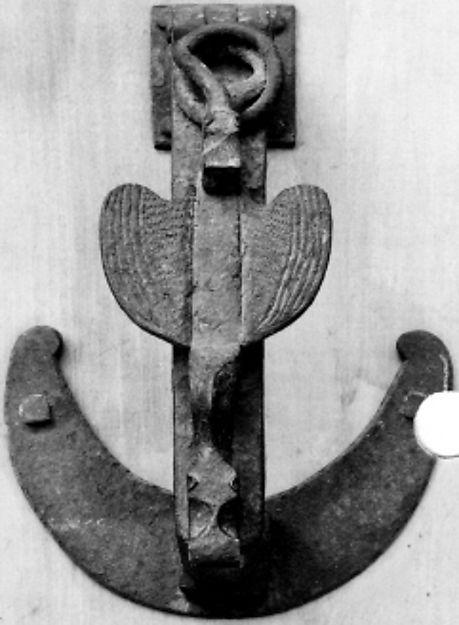 Door Knocker Date: 15th century Culture: Spanish Medium: Iron Dimensions: Overall: 8 1/4 x 6 x 3 11/16 in. (21 x 15.2 x 9.3 cm)