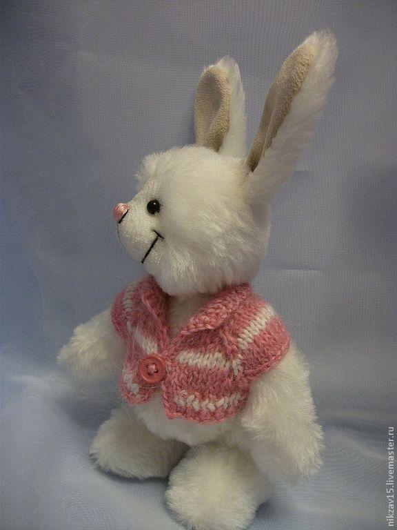 Зайка Зефирка - белый,розовый,зайка,заяц,заюшка,заяц тедди,тедди,зая,зефирка