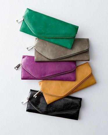 Hobo Beth Asymmetrical Leather Wallet | Garnet Hill