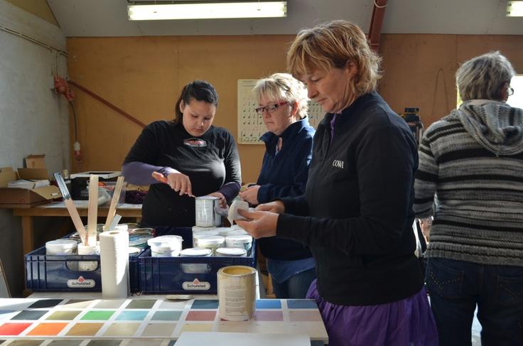 Annie Sloan workshop / Kursus i maleteknikker med Chalk Paint™ hos Tine fra Ville-Kulla