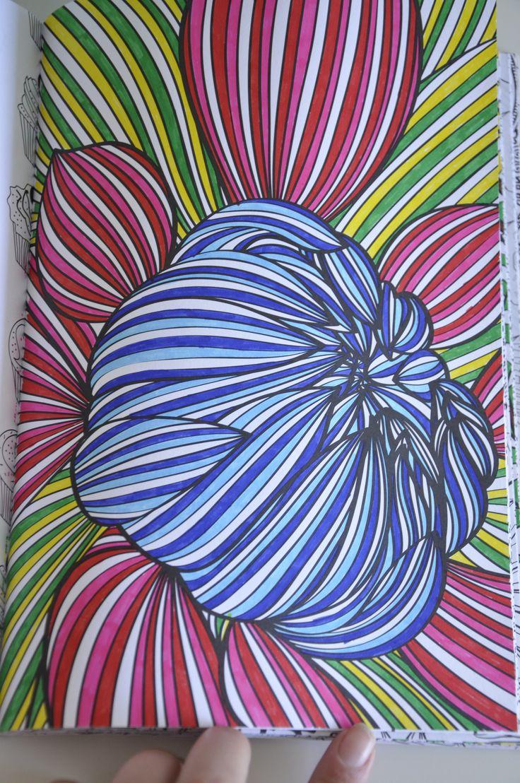 Kleurboek Voor Volwassenen Ingekleurd