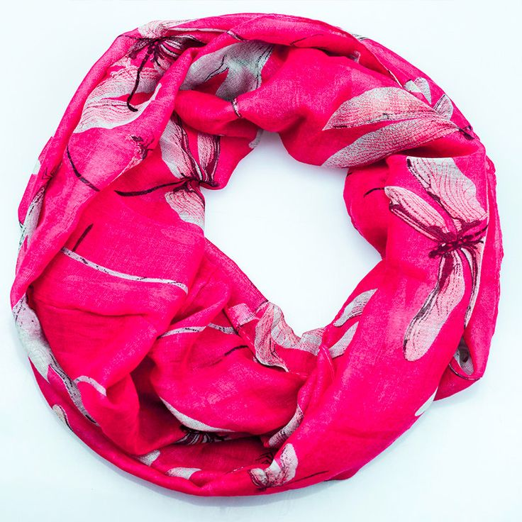 $11.99, Fuschia PInk Dragonfly Inifinity Scarf, women for her fashion accessoires teen gift idea holiday travel loop circle by URFashionista.com on Etsy