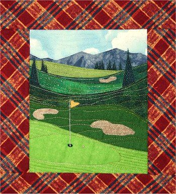Accidental Landscapes - Golf Course Pattern - The Virginia Quilter