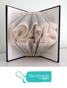 First Wedding Anniversary Present - Folded Book With Your Wedding Date - Paper Anniversary Gift for Him Her Husband Wife - Save the Date - Personalized Gift - Unique Birthday Gift - Baby Shower from Folded Books https://www.amazon.com/dp/B01E07QZPC/ref=hnd_sw_r_pi_dp_aZYKxbAS92KAW #handmadeatamazon