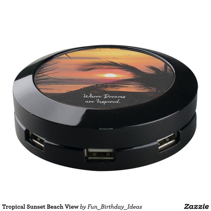 Tropical Sunset Beach View