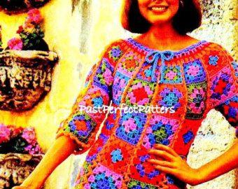 Ähnliche Artikel wie Häkeln Hippie retro Vintage-Stil-Boho-