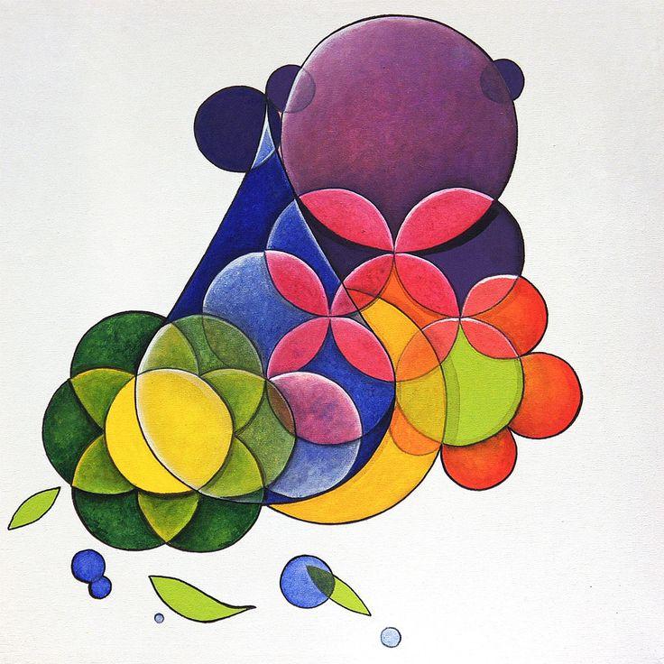 Dois às Três é uma pintura de pequeno porte, feita em acrílico sobre tela em 2012, realizada por encomenda para uma coleção particular de São Paulo, SP.
