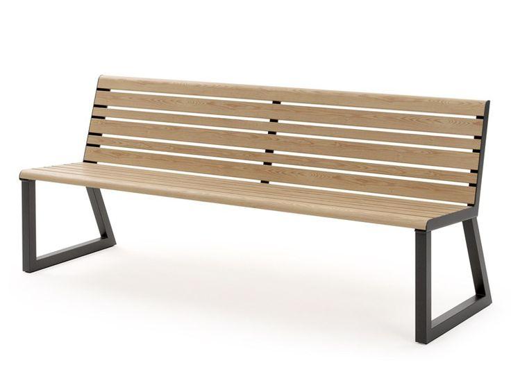VENTIQUATTRORE.H24 Panchina con schienale by Diemmebi design Basaglia Rota Nodari