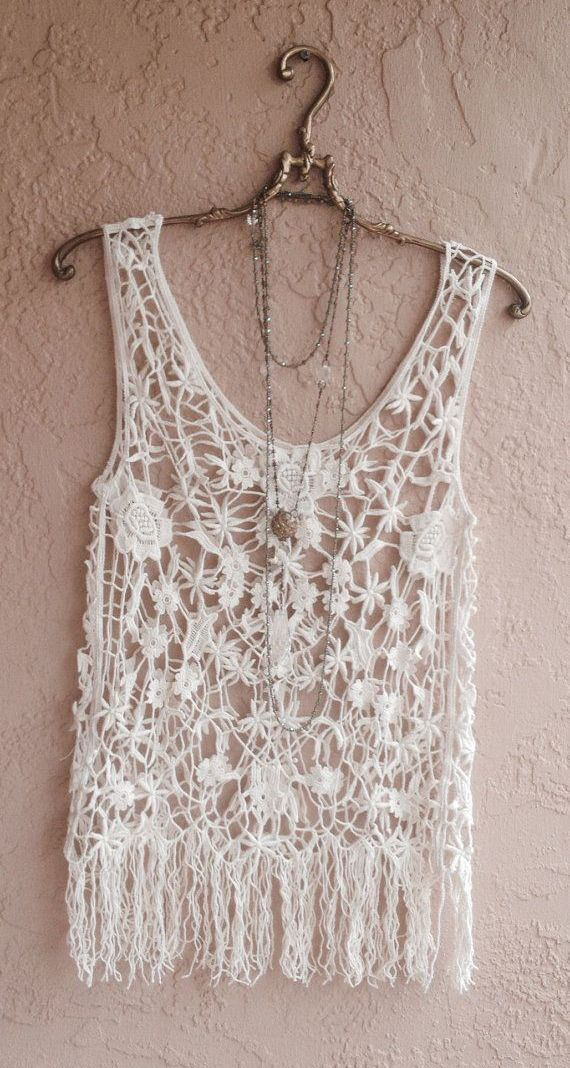 Beach boho Beauty at summer coverup crochet lace