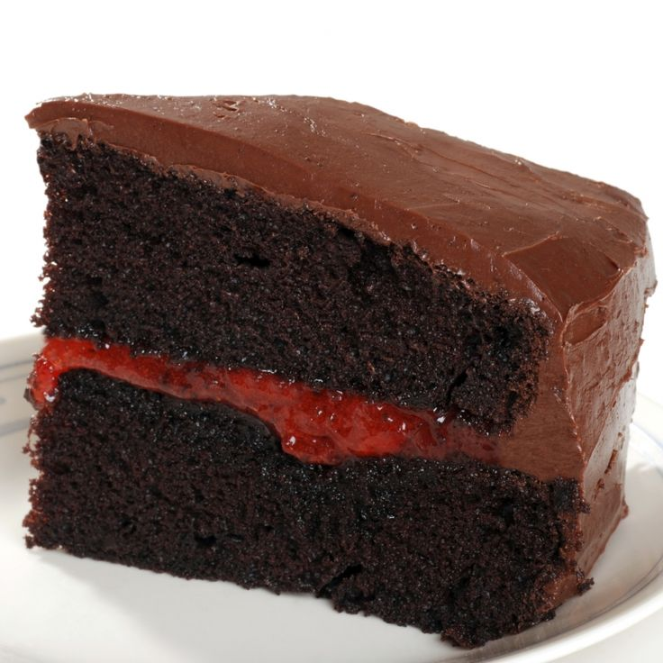 This chocolate strawberry cake has 2 cake layers and a gorgeous strawberry puree in the center for the hint of berry goodness.. Chocolate Strawberry Cake Recipe from Grandmothers Kitchen.