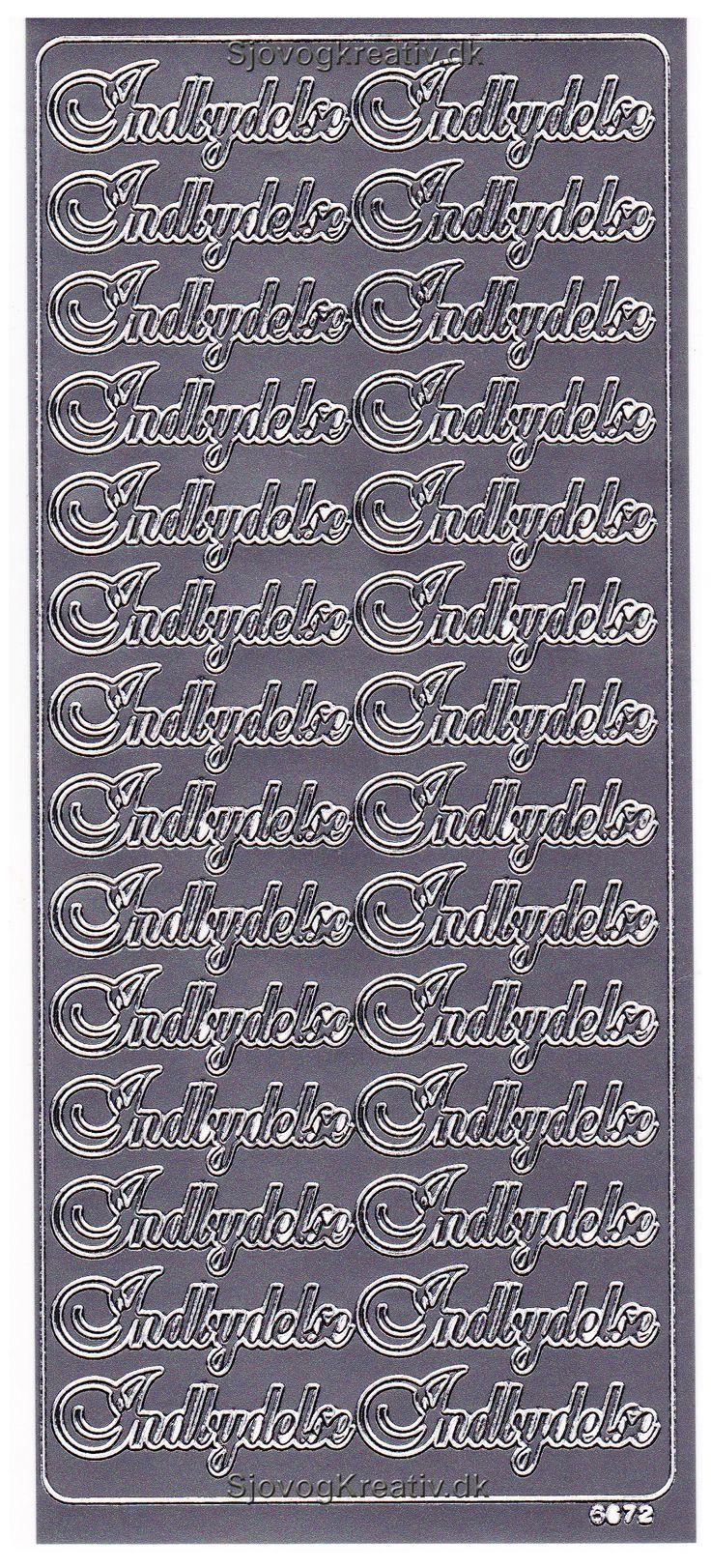 Stickers i sølv med Indbydelse tekst til dine indbydelser til festen fra sjovogkreativ.dk