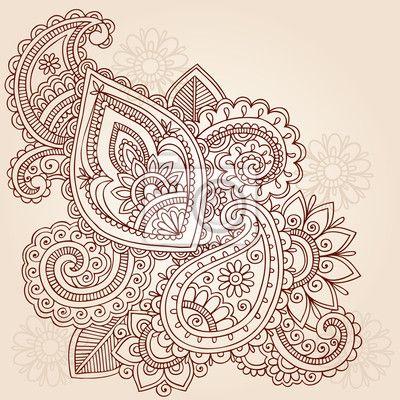 Mehndi. Sierlijke Indiase tekening