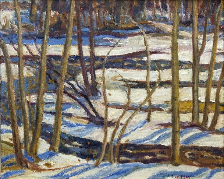 A. Y. Jackson - Bonnechere River 17 x 20 Oil on canvas (1968)