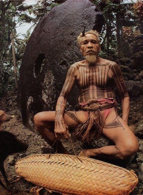 aborigeno dell'isola di Yap, Micronesia