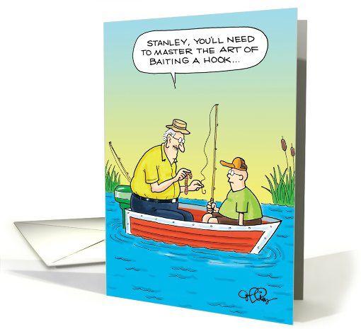 Master Baiter Fishing Adult Humor Birthday Card – Fishing Birthday Cards
