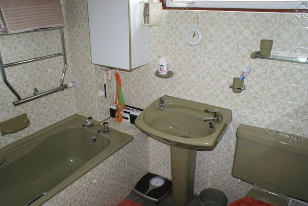 Typical 1980s bathroom. Will avocado suites ever make a comeback?