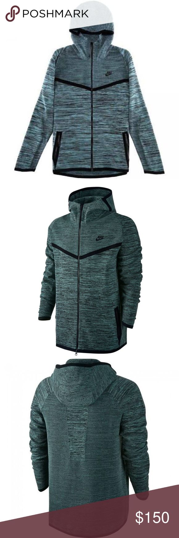 New Nike Tech Knit Windrunner Hoodie Jacket Hasta New Men's Nike Tech Knit Windrunner Hoodie Jacket Hasta Black Cannon  Big and tall Size 3XL.  delivers superior fit ,warmth,ventilation,all-day comfort.Nike Tech Knit,blend of nylon and cotton warm, sweater soft, luxurious feel.  Double-knit construction,micro-mesh panels under the arms,along the center-back keep you cool,Hood integrated back bungee cord personalized coverage,Side zip pockets-woven pocket bags,Full-front zip,storm flap to…