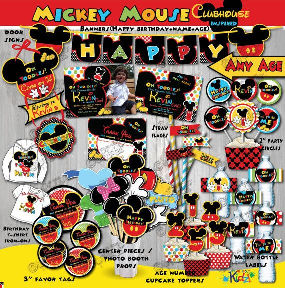 Mickey Mouse Clubhouse birthday party printables https://www.etsy.com/listing/204396150/on-sale-mickey-mouse-clubhouse-birthday