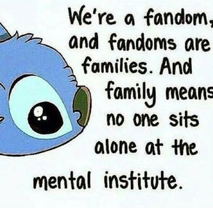 We're a family and a Fandom