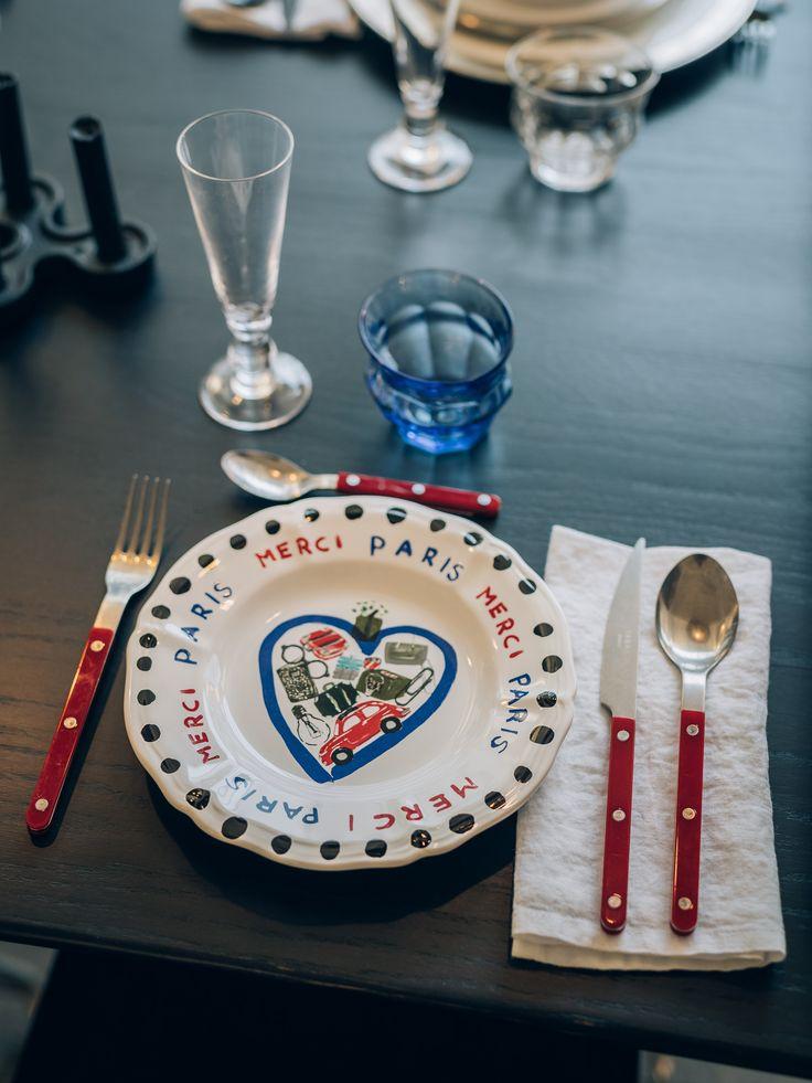 """""""Souvenir de Paris"""" plates collection by Paola Navone for Merci"""