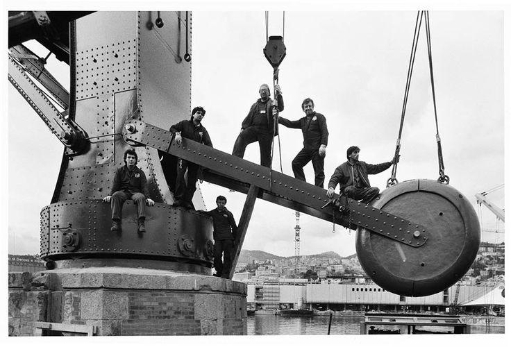 G. Berengo Gardin lavoratori al porto di Genova, 1988