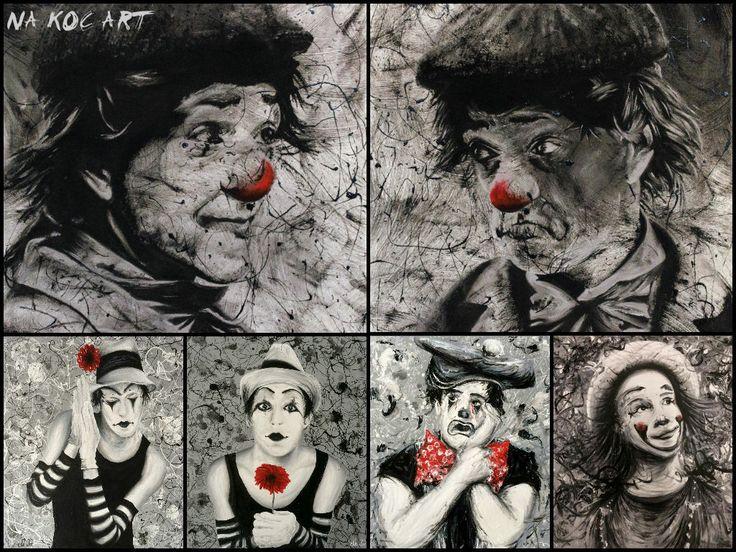 six clowns