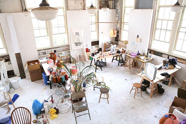 Inside+the+Beautiful,+Creative+Spaces+of+10+Artists+via+@MyDomaine