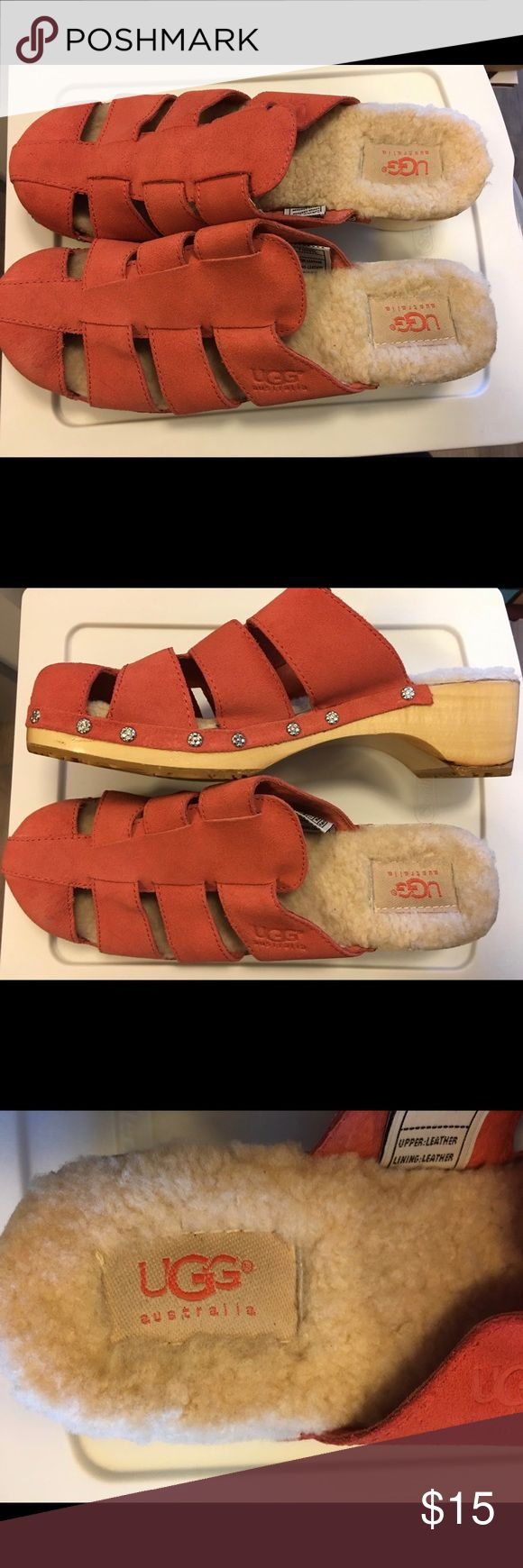 UGG Australia Mules in Coral Lightly worn! Great condition! UGG Shoes Mules & Clogs