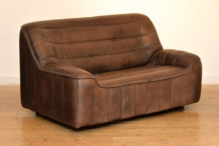 PAIR OF DE SEDE TWO-SEAT SOFAS // MODEL DS84 - Wall - Greedfineart.com