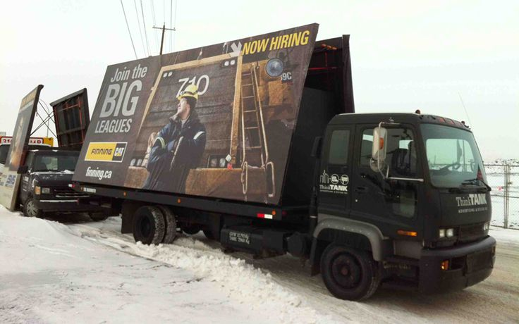 Finning utilized ThinkTANK's Mammoth Super AdVan as part of their massive recruitment campaign to get the message out to a huge target audience.  #recruitmentstrategy #recruitmentads #recruitment