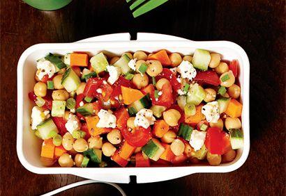 Salade pois chiche tomates