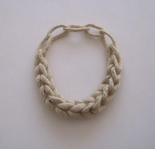 Alea?s Knitted Necklace pattern by Helena Kulm