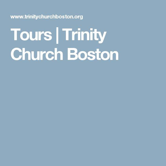 Tours | Trinity Church Boston