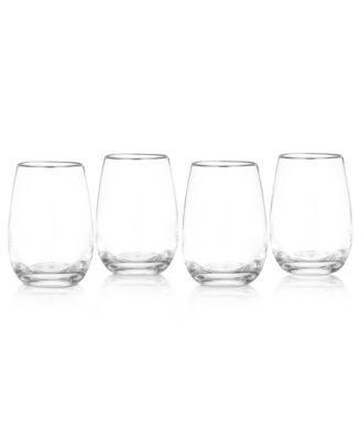 Marquis by Waterford Wine Glasses, Set of 4 Vintage Stemless Wine Glasses
